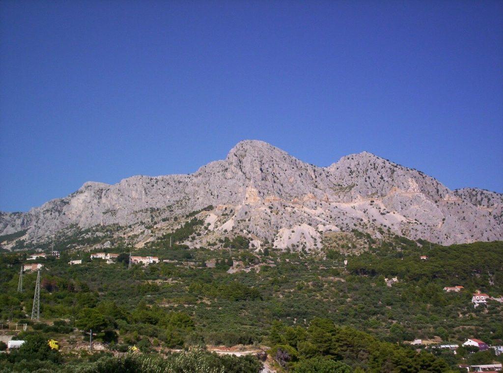 masyw biokovo - górskie szczyty w Chorwacji