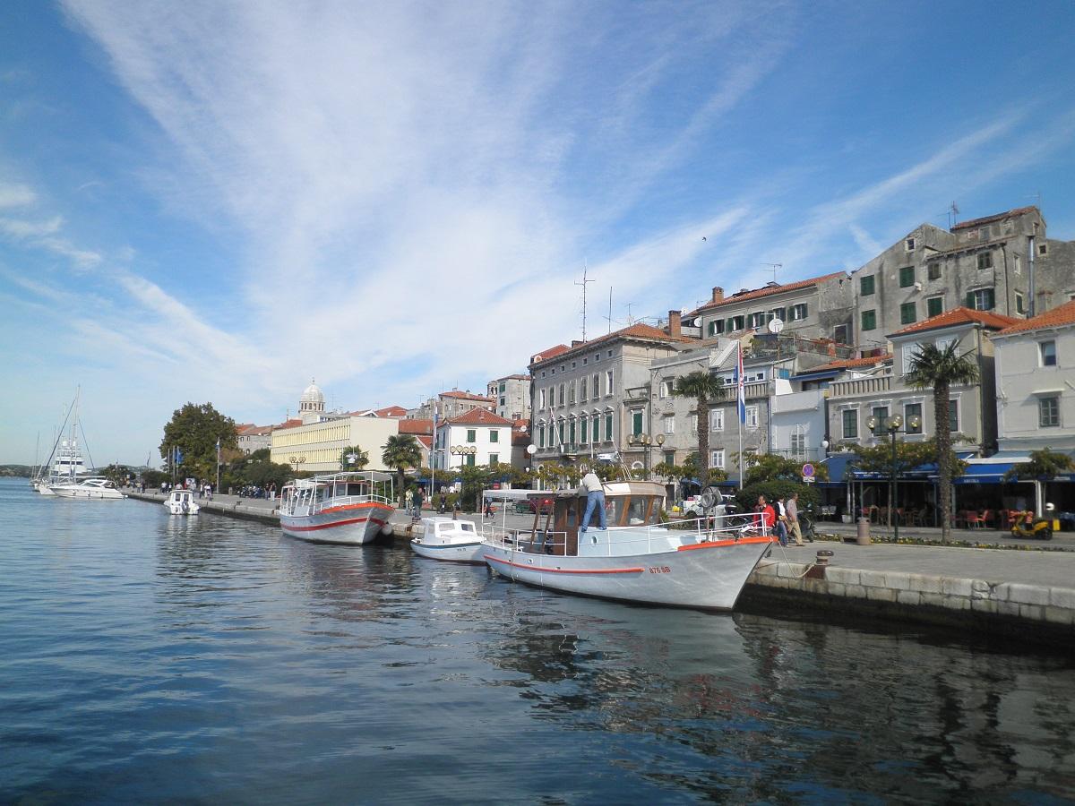 Szybenik port w Chorwacji.